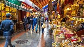 Istanbul, Turkey - December 24, 2016: View Of Kadikoy Street Bazaar Stock Image