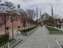 ISTANBUL, TURKEY - DECEMBER 13, 2015: The Blue Mosque Stock Photo