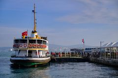 Ferry to asia stock images