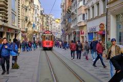 Taksim square to Galata royalty free stock image
