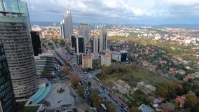 Timelapse of Levent district as seen from Ferko building, istanbul, Turkey stock video