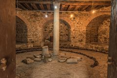 Istanbul, Turkey - 6.13.2018 : Dungeon at Rumeli Fortress stock photography