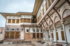 Istanbul, Turkey - 6.13.2018 : Exterior of The Harem, Topkapi Palace royalty free stock photos