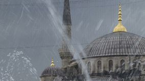 Istanbul Turkey fountain. Istanbul Turkey looking through fountain stock video