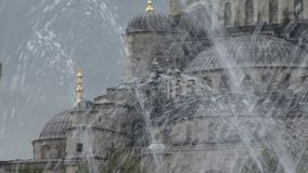 Istanbul Turkey fountain. Istanbul Turkey looking though fountain stock video footage