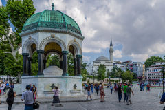 Istanbul, Turkey. German Fountain in Sultanahmet Square. The Hippodrome of Constantinople was a circus that was the sporting and social centre of Constantinople stock images