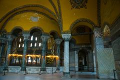 ISTANBUL, TURKEY: Hagia Sophia interior. Hagia Sophia is the greatest monument of Byzantine Culture.  stock photography