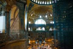 ISTANBUL, TURKEY: Hagia Sophia interior. Hagia Sophia is the greatest monument of Byzantine Culture.  royalty free stock images