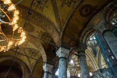 ISTANBUL, TURKEY: Hagia Sophia interior. Hagia Sophia is the greatest monument of Byzantine Culture.  stock images