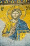 ISTANBUL, TURKEY: Hagia Sophia interior, richly christian mosaic of mosque. ISTANBUL, TURKEY: Hagia Sophia interior, Hagia Sophia interior. richly christian royalty free stock photography