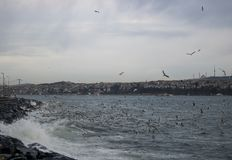 Sea and sky in Istanbul stock photo