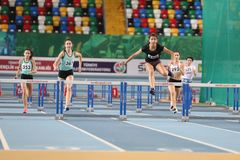 Turkish Athletic Federation Olympic Threshold Indoor Competition Stock Photo