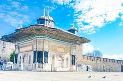 Istanbul, Turkey– January 18 , 2013: Entrance of the Topkapi palace, istanbul royalty free stock images