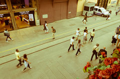 Istanbul, Turkey - Juin 17, 2016: People on the Istiklal Avenue Royalty Free Stock Image