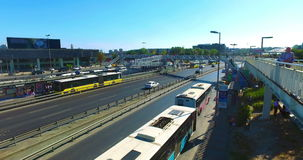 ISTANBUL, TURKEY - JULY 25, 2016: City traffic at Merter in Istanbul. Merter one of the shopping districts of Istanbul stock video footage