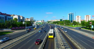 ISTANBUL, TURKEY - JULY 25, 2016: City traffic at Merter in Istanbul. Merter one of the shopping districts of Istanbul stock footage