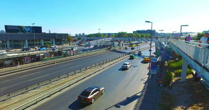 ISTANBUL, TURKEY - JULY 25, 2016: City traffic at Merter in Istanbul. Merter one of the shopping districts of Istanbul stock video