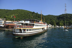 ISTANBUL, TURKEY, JULY 26, 2015 :Passenger ferry Stock Photo