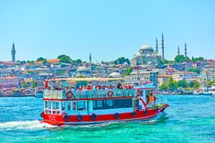 Tourist boat in Istanbul Royalty Free Stock Photography
