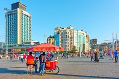 Taksim Square in Istanbul Royalty Free Stock Image