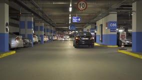 ISTANBUL - TURKEY 8 JUNE 2016 / Cars on underground parking inside building stock footage