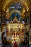 Bulgarian St. Stephen Church in Istanbul, Turkey. ISTANBUL, TURKEY - JUNE 03, 2018: Interior of Bulgarian St. Stephen Church. Church was built in 1870 stock images