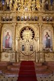 Bulgarian St. Stephen Church in Istanbul, Turkey. ISTANBUL, TURKEY - JUNE 03, 2018: Interior of Bulgarian St. Stephen Church. Church was built in 1870 royalty free stock image