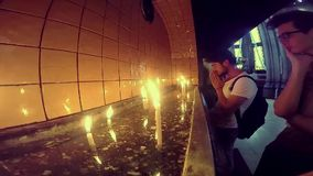 ISTANBUL, TURKEY - JUNE 09, 2015: People lightning candle and praying in church of St. Anthony of Padua basilica Roman Catholic Ch stock video footage