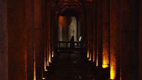 ISTANBUL, TURKEY, JUNE 3 2017: Underground water storage Basilica Cistern