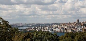 Istanbul, Turkey Landscape across the Bosphorus Royalty Free Stock Image