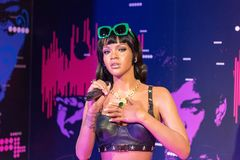 Rihanna wax figure at Madame Tussauds museum in Istanbul. royalty free stock photo