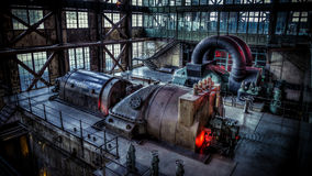 Istanbul, Turkey, March 2, 2013: Santral istanbul, electric generator / power plant museum in Istanbul. Royalty Free Stock Images