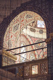 ISTANBUL, TURKEY - MAY 5, 2014: Beautiful decorated interior of Royalty Free Stock Photos