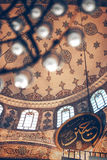 ISTANBUL, TURKEY - MAY 5, 2014: Beautiful decorated interior of Royalty Free Stock Photo
