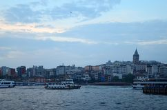 Istanbul, Turkey - May 10, 2018: Istanbul city skyline in Turkey royalty free stock images