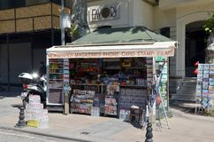 Newspaper kiosk in Istanbul stock image
