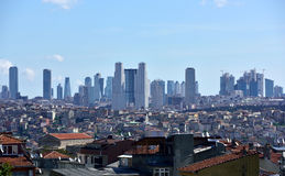 ISTANBUL, TURKEY - MAY 10: Skyscrapers and residences can be see Royalty Free Stock Photography