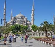 ISTANBUL, TURKEY - MAY 15, 2014 -Tourists walk towards  Sultan A Royalty Free Stock Photo