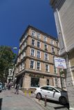 View from a up hill street in Beyoglu, Istanbul Royalty Free Stock Photo