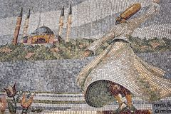 Whirling Dervish mosaic in Istanbul royalty free stock images