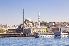 Istanbul in Turkey with New Mosque Stock Images