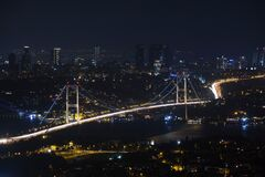 Istanbul, Turkey at night Royalty Free Stock Images