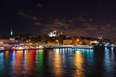 Istanbul Turkey at night Royalty Free Stock Image
