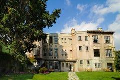ISTANBUL, TURKEY- NOVEMBER 2, 2014: Abandoned Jewish orphanage building in Besiktas Istanbul. Art gallery of FotoIstanbul Besiktas Royalty Free Stock Photos