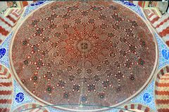 Ceiling of the tomb of Suleyman the Magnificent Kanuni Sultan Suleyman in Istanbul. Istanbul, Turkey - November 4, 2015. Ceiling of the tomb of Suleyman the royalty free stock photography