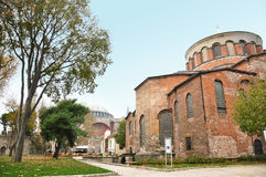 Istanbul, Turkey - November 22: Church of Hagia Eirene in the First Courtyard of The Topkapı Palace in Istanbul, Turkey. The Topkapı Palace is residence of the Stock Photo