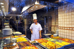 Istanbul, Turkey - November 22, 2014: Cook Street restaurant shows food range Описание: Range of Turkish cuisine restauran Stock Photo