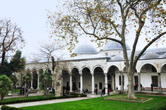 Istanbul, Turkey - November 22, 2014: The courtyard of Topkapi Palace, that was the primary residence of the Ottoman sultans Stock Image