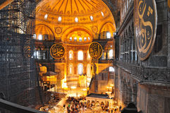 Istanbul, Turkey - November 22: Interior of Hagia Sophia famous Byzantine landmark in Istanbul, Turkey Stock Image