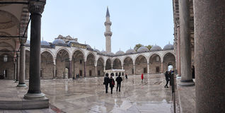 Istanbul, Turkey - November 23, 2014: The Suleymaniye Mosque is an Ottoman imperial mosque located on the Third Hill of Istanbul,. The largest mosque in the city Stock Photos